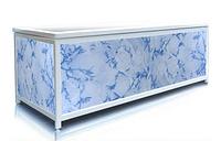 Экран под ванну 160 см, голубой камень, пластиковый каркас