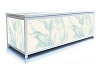 Экран под ванну 160 см, голубой мрамор, пластиковый каркас