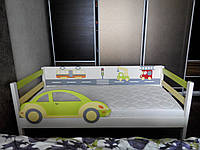 """Кровать детская с бортиком """"Автомобильчик"""""""