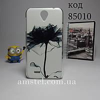 Чехол на Lenovo a850 панель накладка цветок тушью