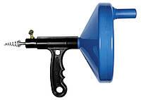 Трос для прочистки труб, L - 3,3 м, D - 6 мм, пластмассовый корпус СибрТех 92464