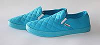 Мужские кеды мокасины голубые 43р