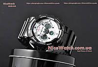 Часы мужские Копия Casio G-Shock GA-120 Черные с Белым Black Dial White