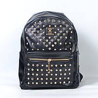 Стильный кожаный рюкзак для девушки со стразами - 9050