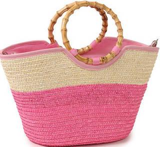 Стильная летняя сумка-корзина Podium 6917 pink, розовый