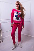 Спортивный костюм с принтом цвет розовый  КЛЭР, фото 1