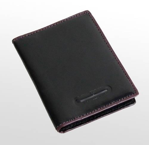 Кожаная обложка-визитница VIP COLLECTION (Вип Колекшн). Артикул 215A EX черный, 215B EX коричневый