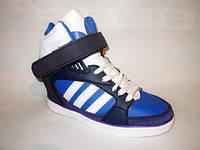 Д397 - Женские ботиночки сникерсы Адидас синие
