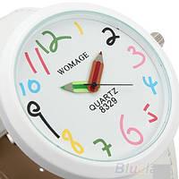 Прикольные наручные часы Womage цветные карандаши