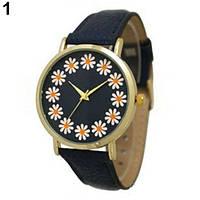 Модные женские наручные часы с цветочками