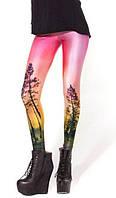 Модные яркие леггинсы с рисунком