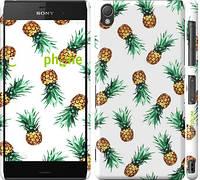 """Чехол на Sony Xperia Z3 D6603 Ананас """"2499c-58"""""""