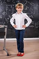 Школьная повседневная рубашка для девочки 213 Белая