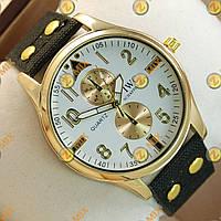 Часы IWC Schaffhausen Black/Gold/White