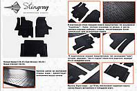 Резиновые коврики в салон на Renault Master груз. 98-\03- (Рено Мастер)