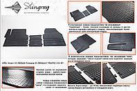 Резиновые коврики в салон на Renault Trafic 01- (Рено Трафик 01-)
