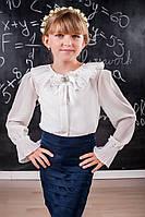 Нарядная шифоновая блузка для девочки 215 Хорошее качество