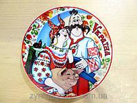 Сувенир Украины -   тарелка на подставке