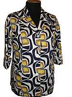 Летний  яркий пиджак со стреч-котона ,с накладными карманами 70-3