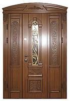 Элитные стальные двери стеклопакет ковка Термопласт™ Модель 2