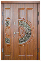Двери железные элитные с кованными элементами Термопласт™ Модель 9