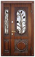Двери входные полуторные + надежные замки Термопласт™ Модель 26