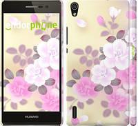 """Чехол на Huawei Ascend P7 Японские цветы """"2240c-49"""""""