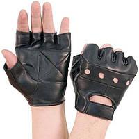 Качественные мужские перчатки без пальцев из натуральной кожи, Германия