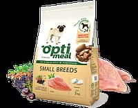 Полнорационный сухой корм для взрослых собак маленьких пород  Optimeal 3 кг