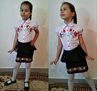 Подростковая юбка с вышивкой для школы. Тренд 2015!  код М- 503-5 MM