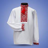Сорочка вишиванка для мальчика красный орнамент