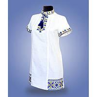 """Платье с вышивкой белое """"Лилия"""""""
