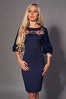 Стильное женское платье с вышевкой