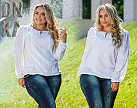Белая блуза, большие размеры - супер качество!!!