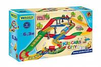 """Игровой набор Wader - Городок с железной дорогой, автотрассой и эстакадами серии """"Kid Cars"""" 6,3 м"""
