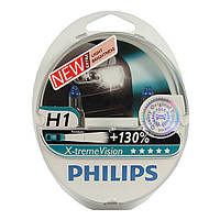 """Автомобильные галогеновые лампы """"PHILIPS""""(H1)(X-treme Vision)(+130%)(3700K)(12V)(55W)"""