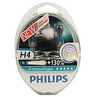 """Автомобильные галогеновые лампы """"PHILIPS"""" (H4) (X-treme Vision) (+130%) (3700K) (12V) (60/55W)"""