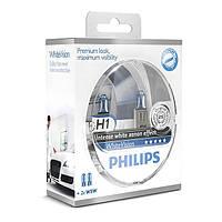 """Автомобильные галогеновые лампы """"PHILIPS""""(H1)(White Vision)(4300K)(+60%)(12V)(55W)"""