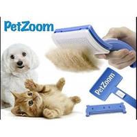 Щетка-расческа для шерсти животных Pet Zoom + триммер