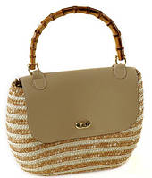 Замечательная летняя сумка-корзина Podium 6926 beige, бежевый
