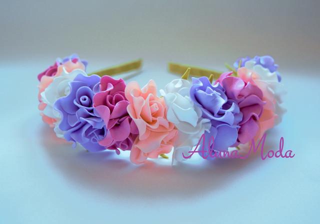 Ободки с цветами своими руками из бумаги 22