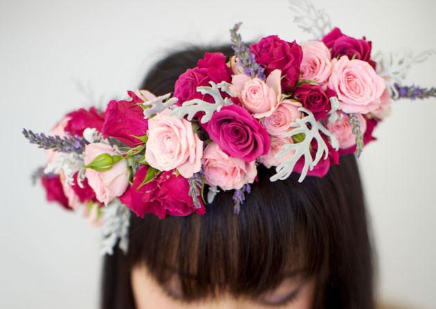 Веночек из цветов на голову