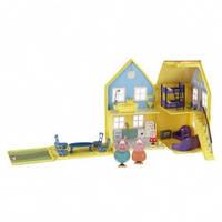 Кукольный домик Свинка Пеппа Загородный дом, домик с мебелью и 4 фигурки