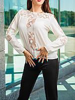 Стильная красивая белая блузка от 44 до 50 размера