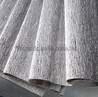 Гофро-бумага металлизированная серебристая