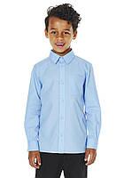Школьная рубашка для мальчика с облегченной глажкой