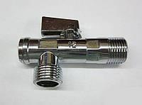 """Кран приборный для подключения смесителей, унитазов или бойлеров 1/2"""" X 1/2""""  Solomon"""
