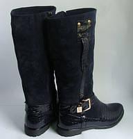 Женские кожаные сапоги от производителя, возможен отшив в других цветах кожи и замши