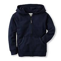 Детская синяя кофта с капюшоном, на рост 104-118 см. (арт.3720)