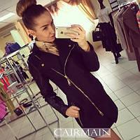 Пальто женское  Zara черное , плащи женские